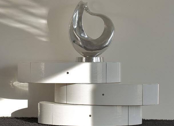 Commode Design Blanche commode design original / en bois / blanche - nido - voltan