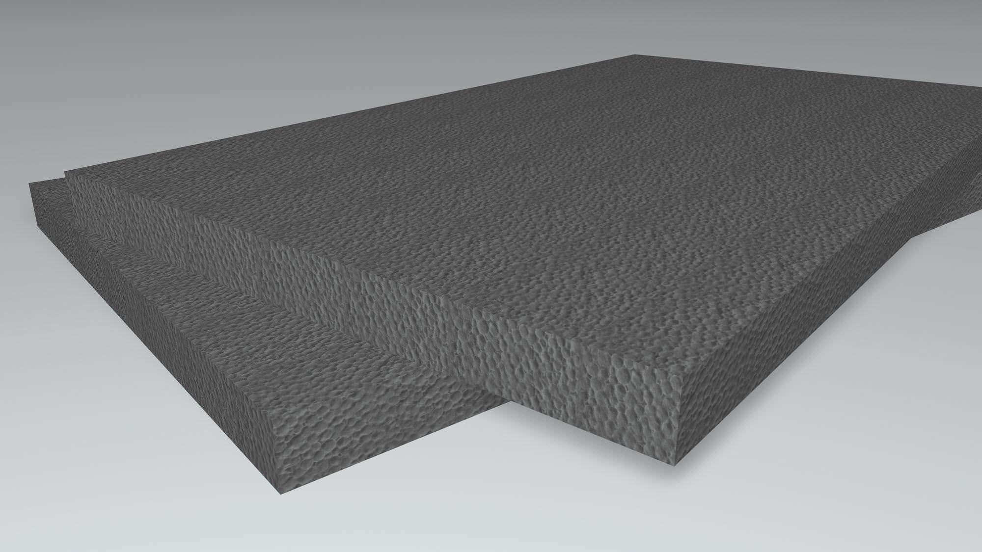 Isolation polystyrène noir