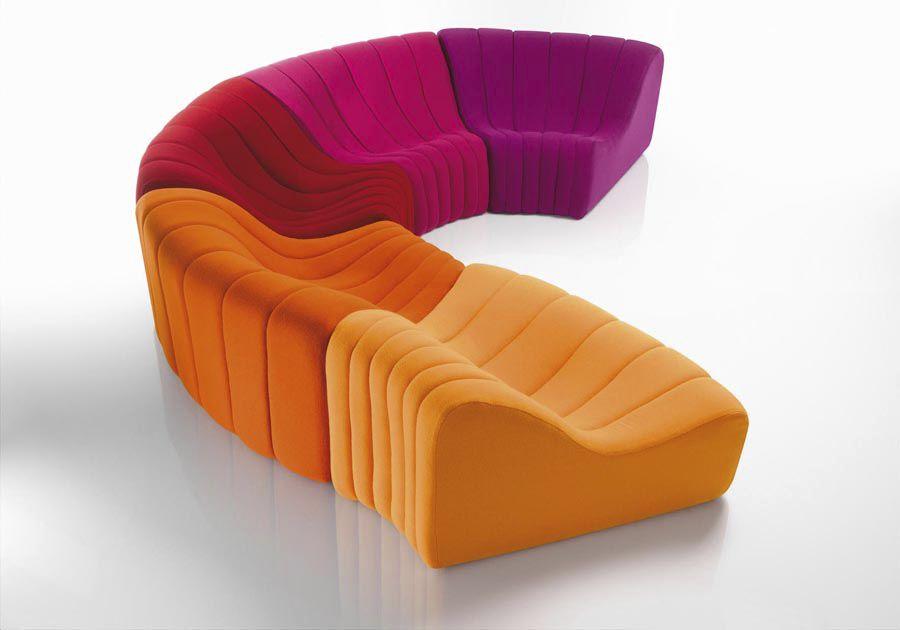 Canapé Modulable Design Original En Tissu Places Et Plus - Canapés modulables design