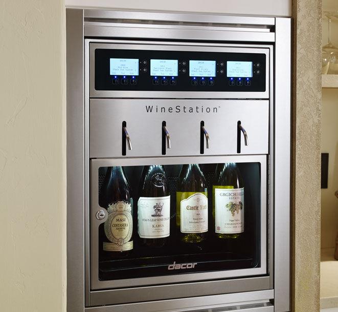 cave à vin résidentielle / encastrable / sous plan / en métal