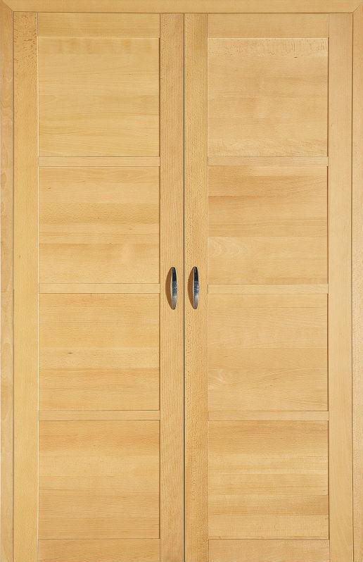 Porte Pour Placard Battante Coulissante En Bois Massif - Porte placard coulissante et porte interieur hetre massif