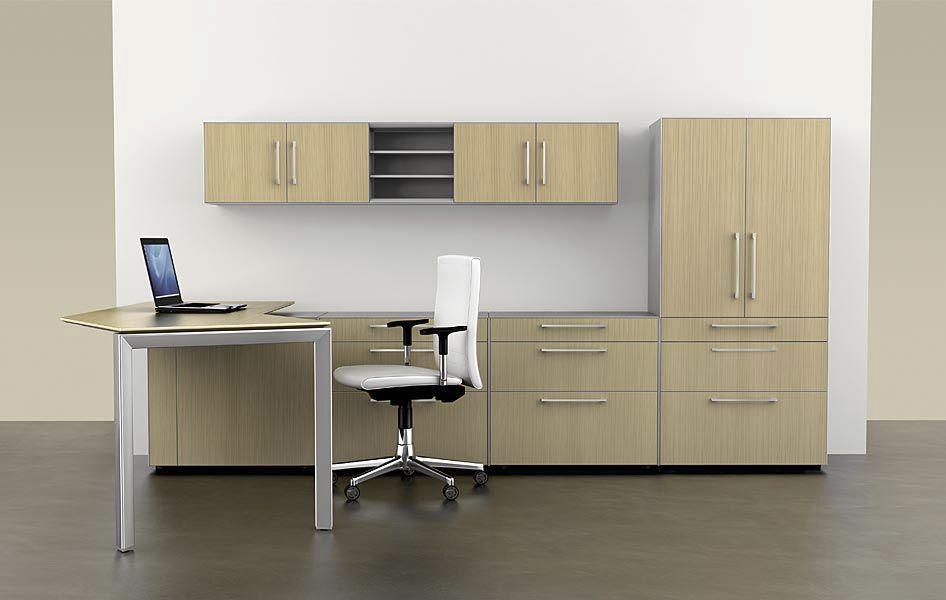 Bureau en bois contemporain professionnel avec rangement