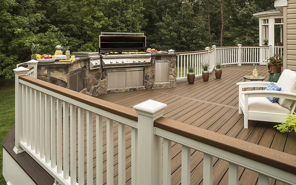 Gardecorps En Composite à Barreaux Dextérieur Pour Terrasse - Materiaux composite pour terrasse