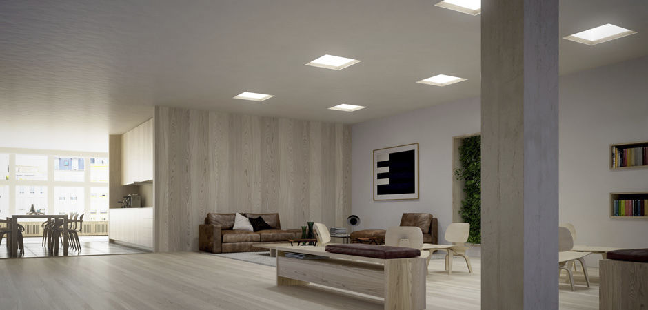 Luminaire Apparent Encastrable Au Plafond A Led Carre L2