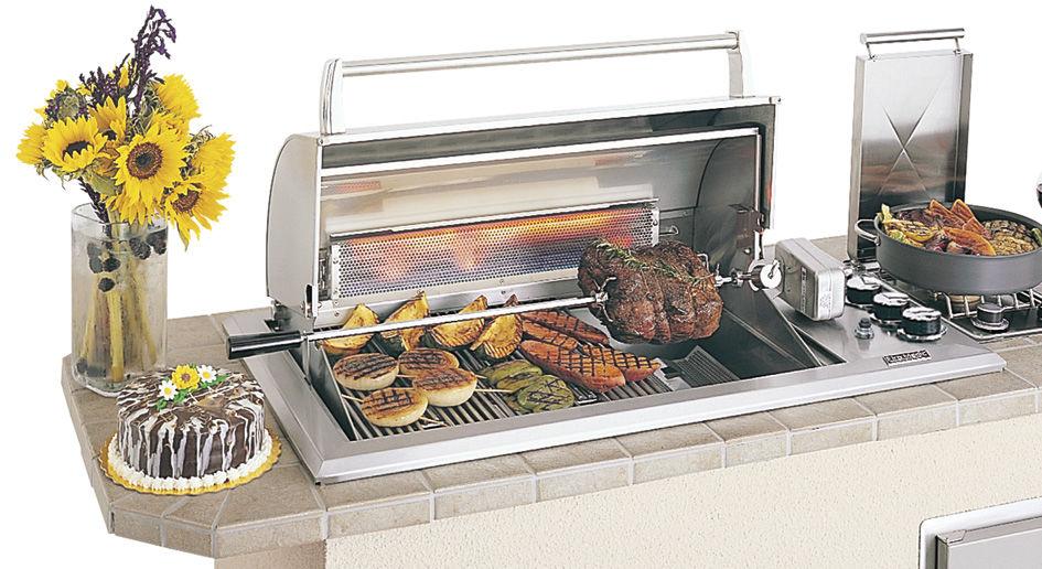 Barbecue à Gaz / à Encastrer / En Acier Inoxydable
