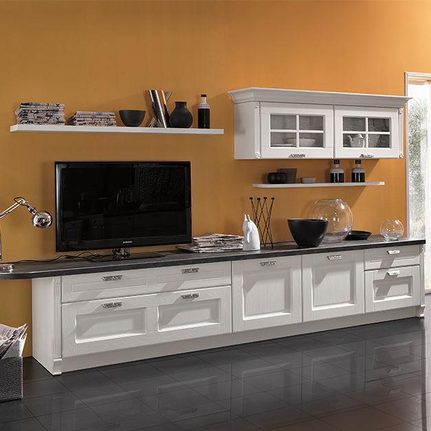 Meuble TV classique / en bois laqué - IMPERIAL - ARAN Cucine