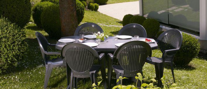 Table De Jardin Grosfillex Vega Taupe. Fabulous Grosfillex Salon De ...