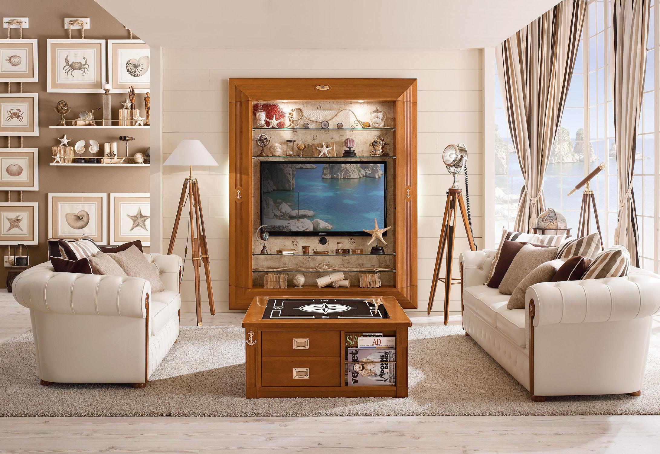 table basse classique en acajou carre 1009 caroti - Table Basse Blanc Style Marin