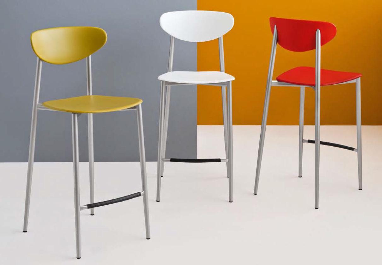 chaise de bar contemporaine en polypropylne graffiti - Chaise Bar