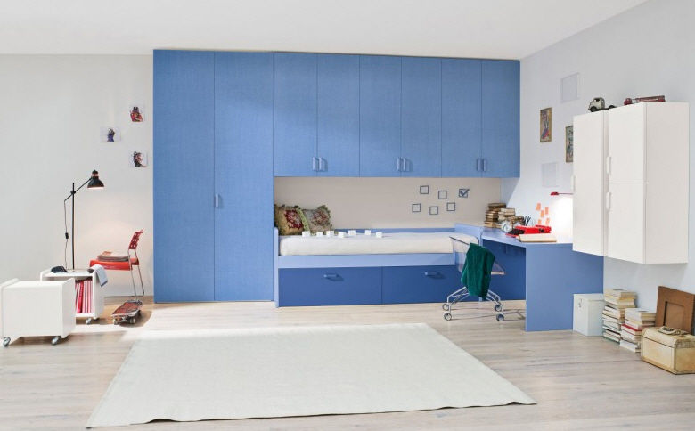 Chambre d\'enfant pour garçon / bleue - START 150 - Clever