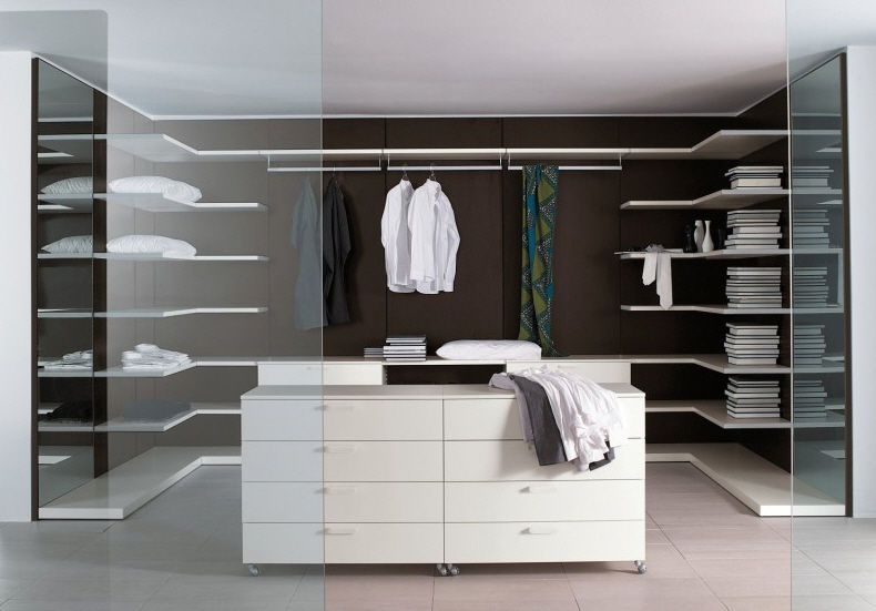 Dressing contemporain / en bois laqué - START - Clever