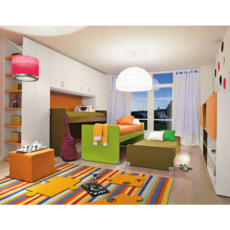 Chambre d\'enfant mixte / orange - START 120 - Clever