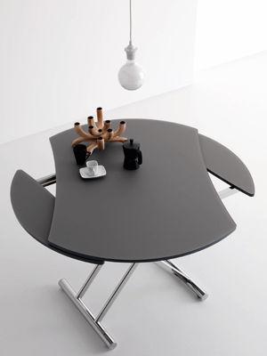 table ovale reglable en hauteur