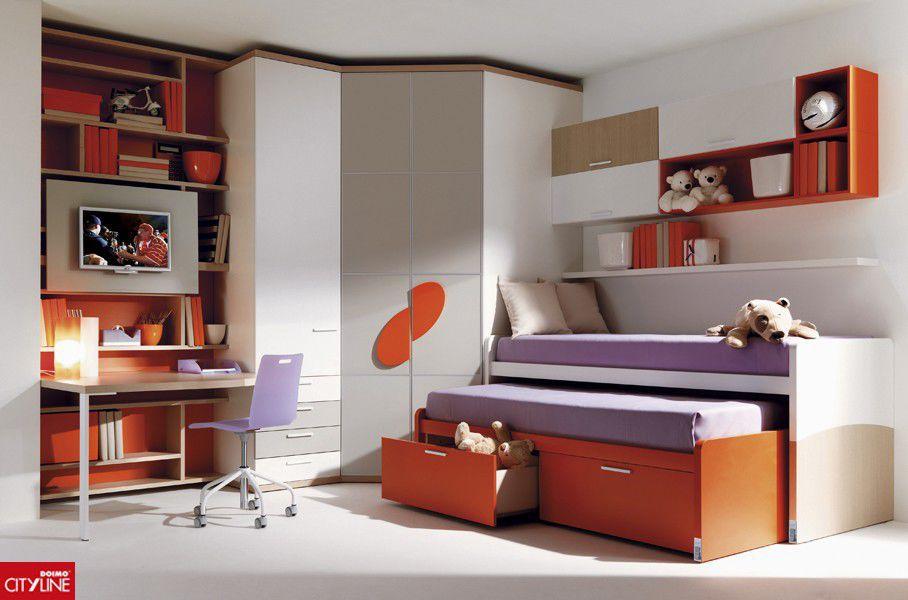 Chambre Du0027enfant Blanche / Orange / Mixte   955