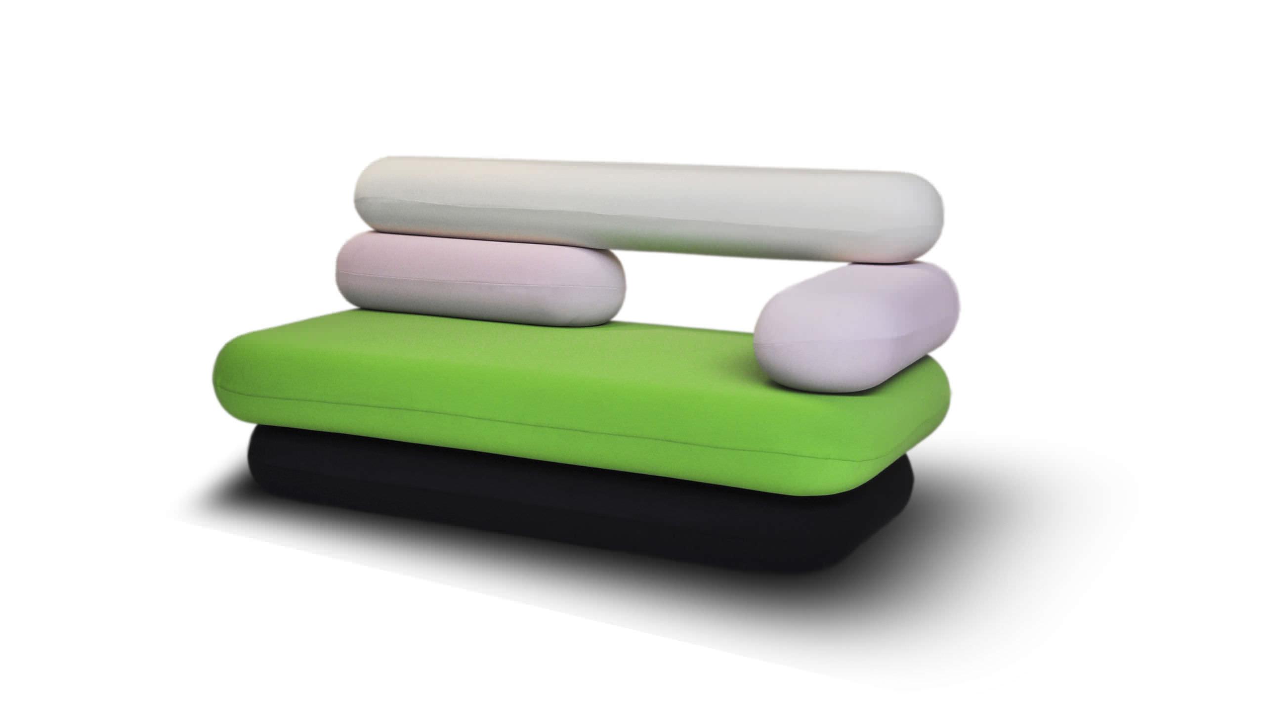 Canapé design original / en tissu / par karim rashid / 2 places ...