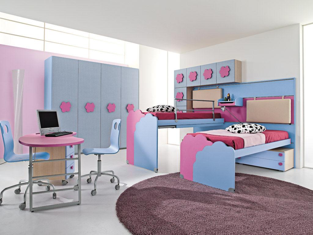 Chambre d\'enfant pour fille / rose - NUVOLA - 3 - Faer Ambienti