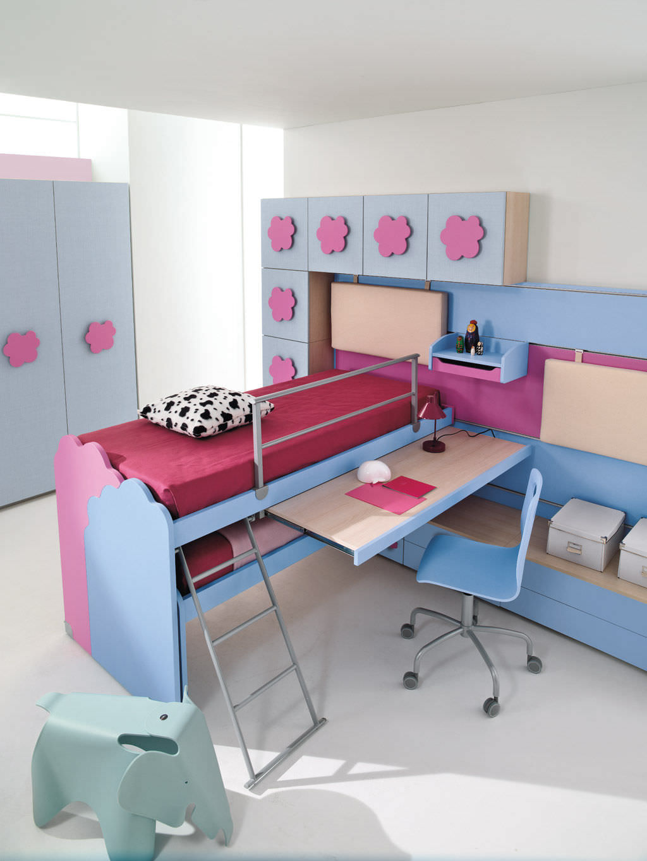 Chambre d'enfant pour fille   nuvola   3   faer ambienti