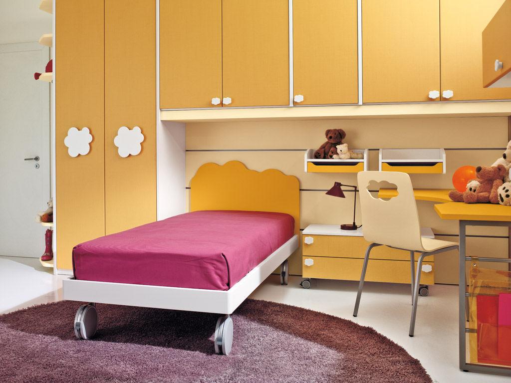 Chambre d\'enfant mixte / orange - NUVOLA - 7 - Faer Ambienti