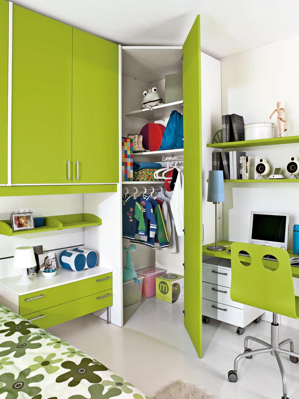 Chambre d\'enfant mixte / verte - P.2 - Faer Ambienti