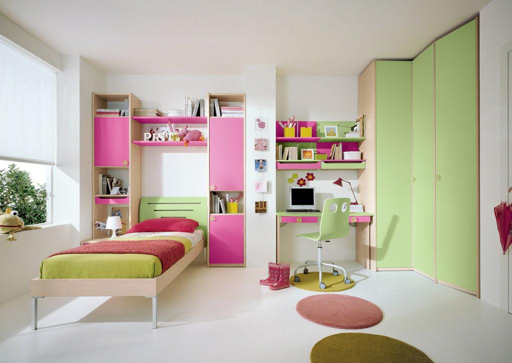 Chambre D'Enfant Pour Fille / Rose - A.1 - Faer Ambienti