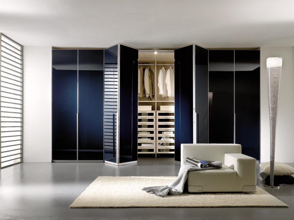 Armoire de chambre contemporaine / en bois / à porte pliante ...