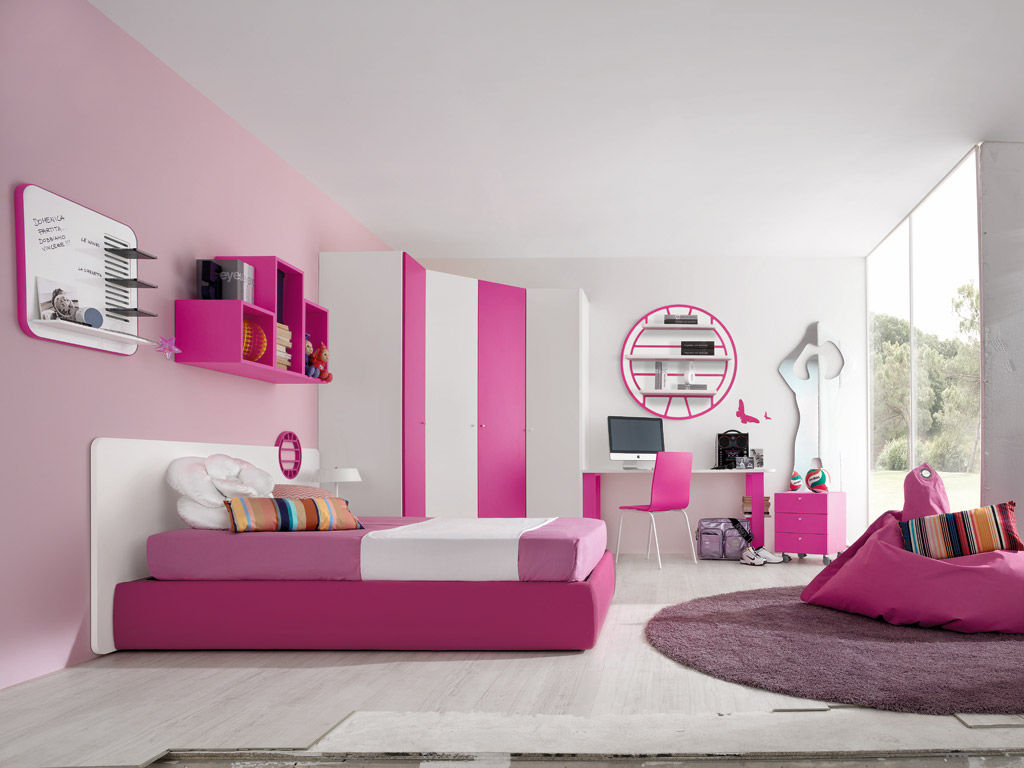 Chambre d\'enfant rose / pour fille - SPORT - VOLLEY 2 - Faer Ambienti