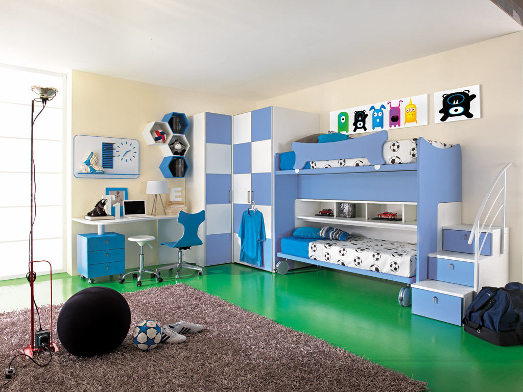 Chambre Du0027enfant Bleue / Pour Garçon   SPORT   CALCIO 6
