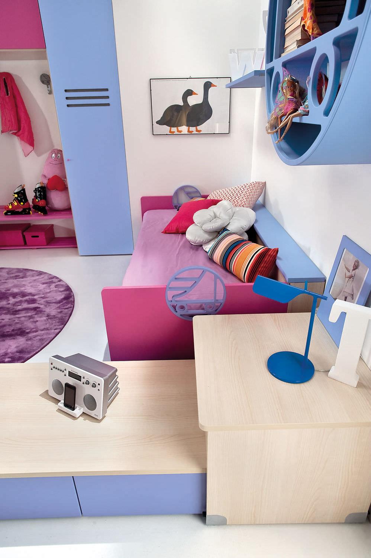 Chambre d\'enfant bleue / pour fille - SPORT - ROLLER 2 - Faer Ambienti