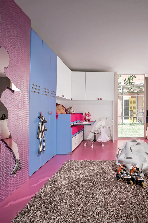 Chambre d\'enfant bleue / mixte - SPORT - ROLLER 3 - Faer Ambienti