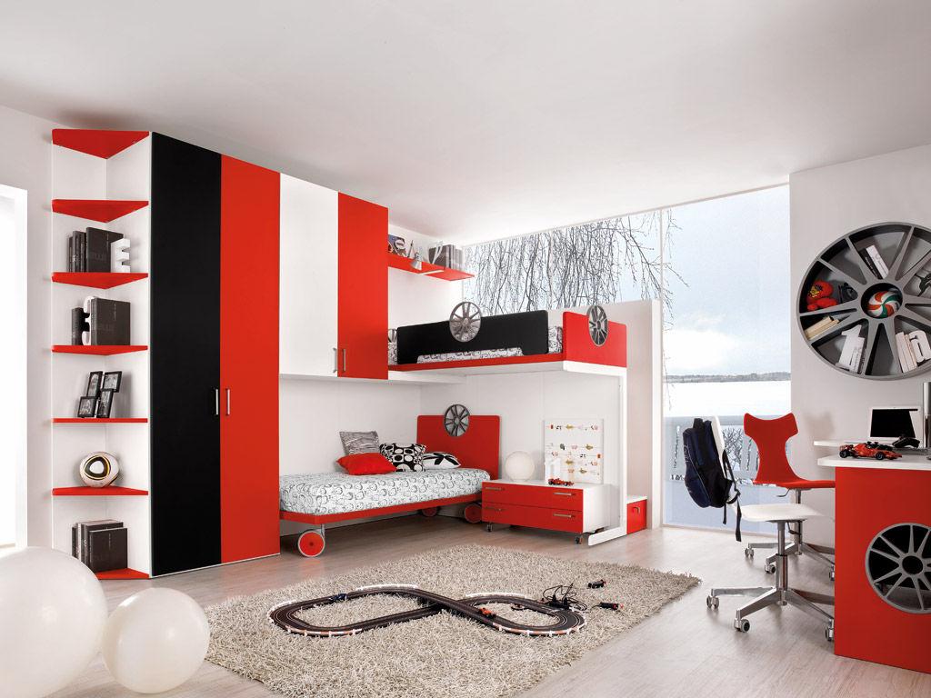 Chambre Du0027enfant Rouge / Mixte ...