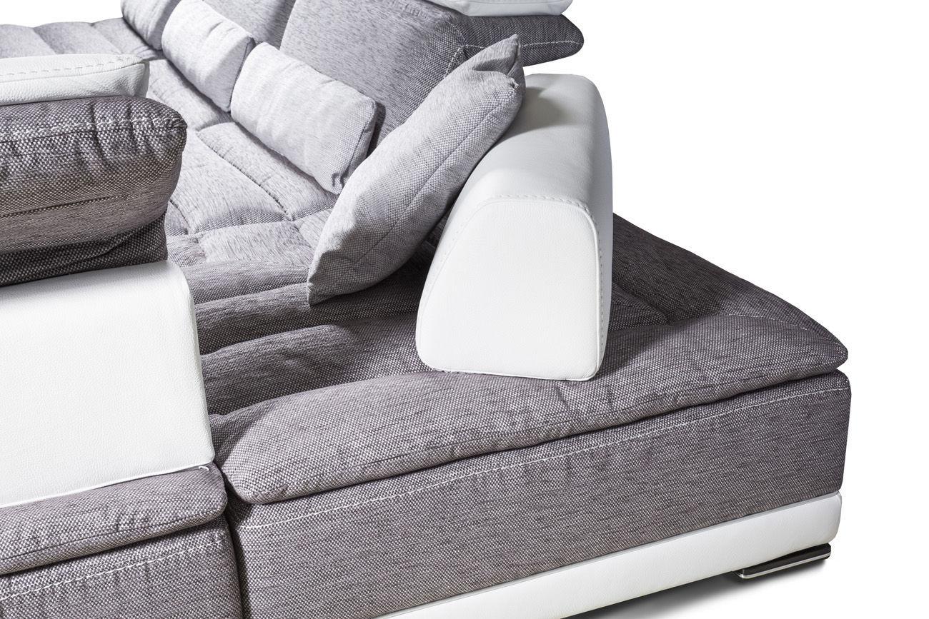 Canapé d angle contemporain en tissu 7 places et plus