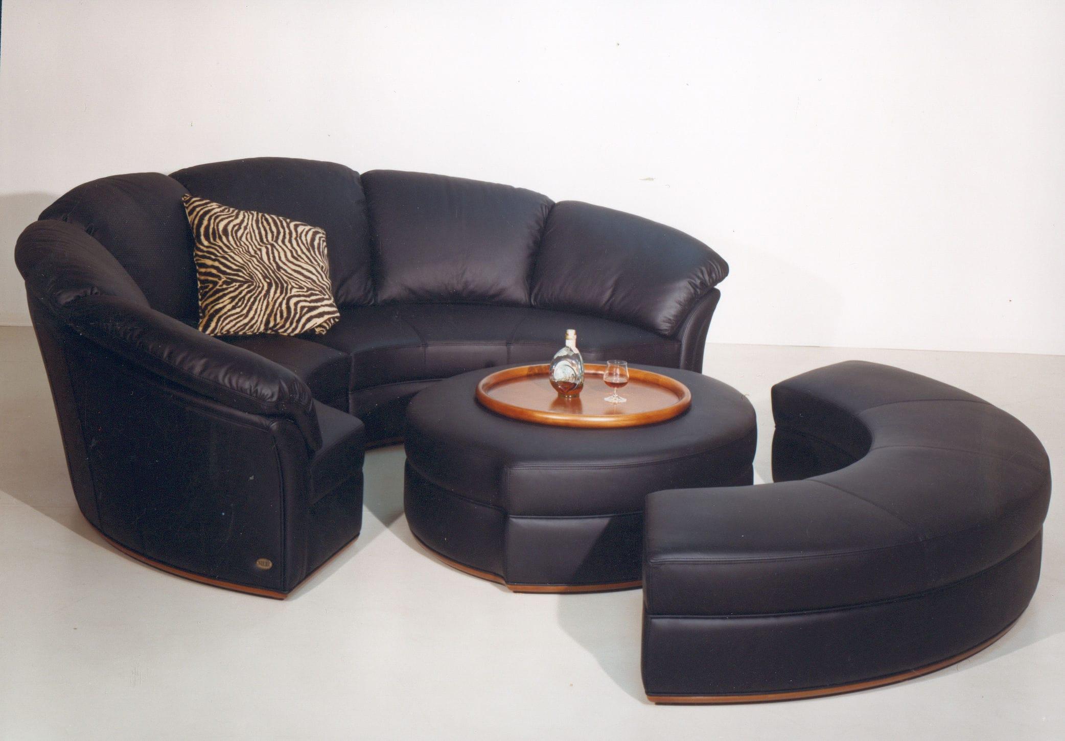 Canapé rond modulable contemporain en cuir PLANET Nieri
