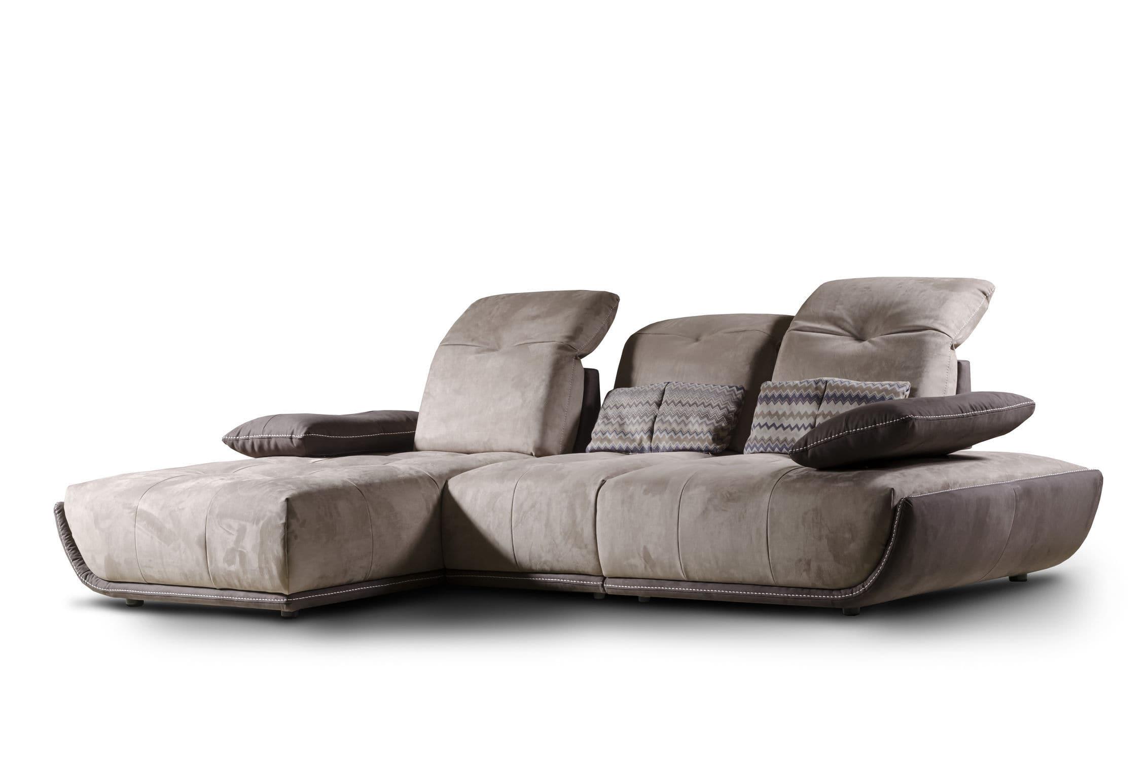 Canapé modulable / contemporain / en cuir / en tissu - CASSANDRA - Nieri