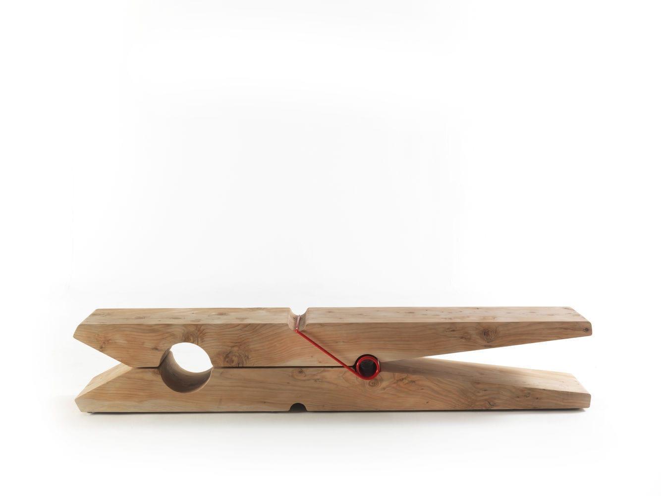 Banc de jardin / design original / en bois massif / en cèdre ...