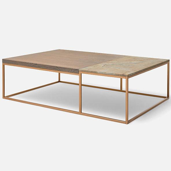 Table basse contemporaine / en acier à revêtement par poudre / en ...