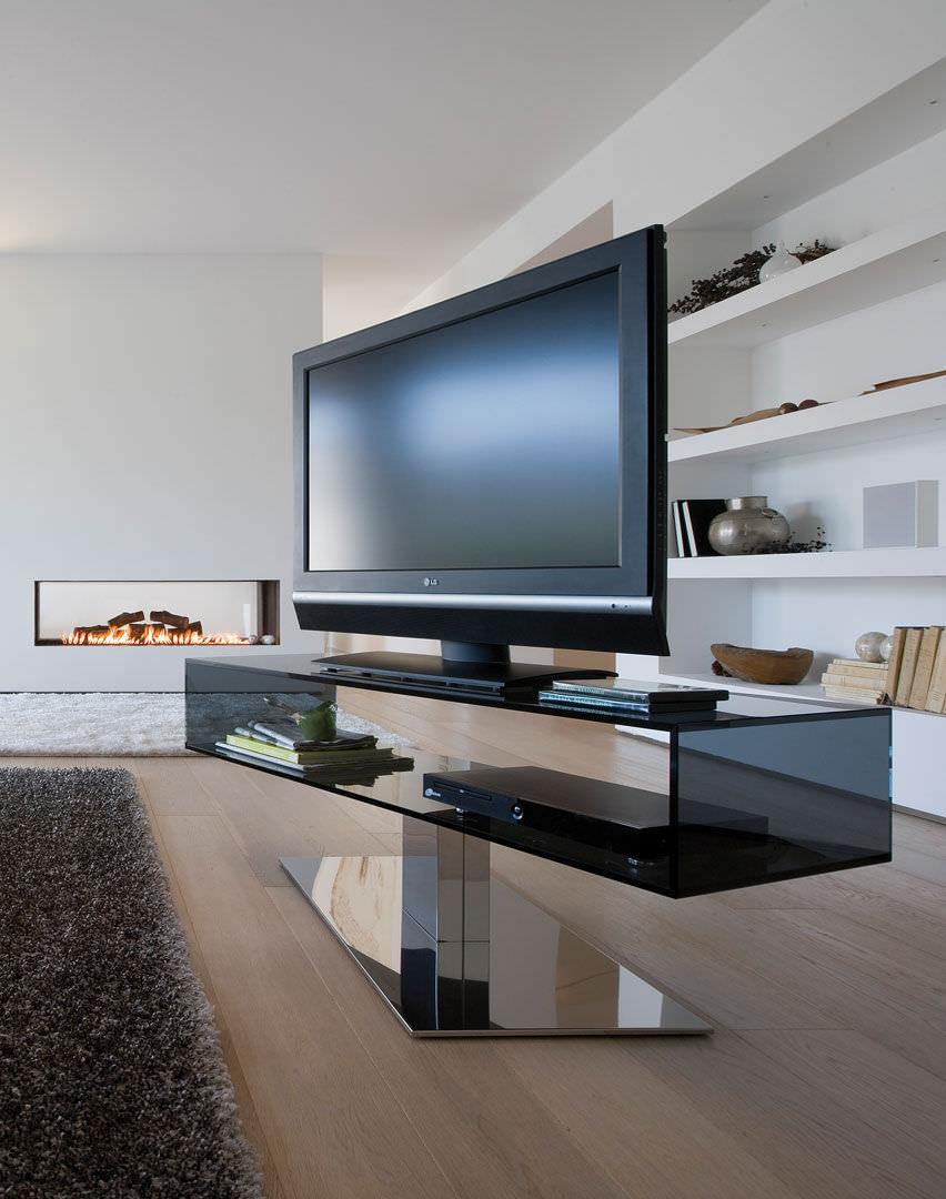 Meuble Tv Design Bois Et Verre Urbantrott Com # Table Tele Design En Bois Et Verre