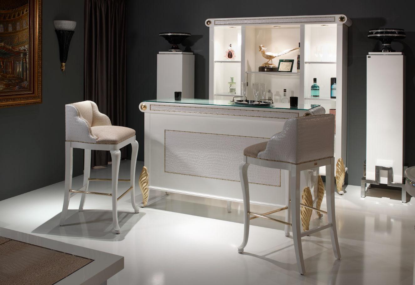 meuble bar design nouveau baroque / en bois laqué - 09e - soher - Meuble De Bar Design
