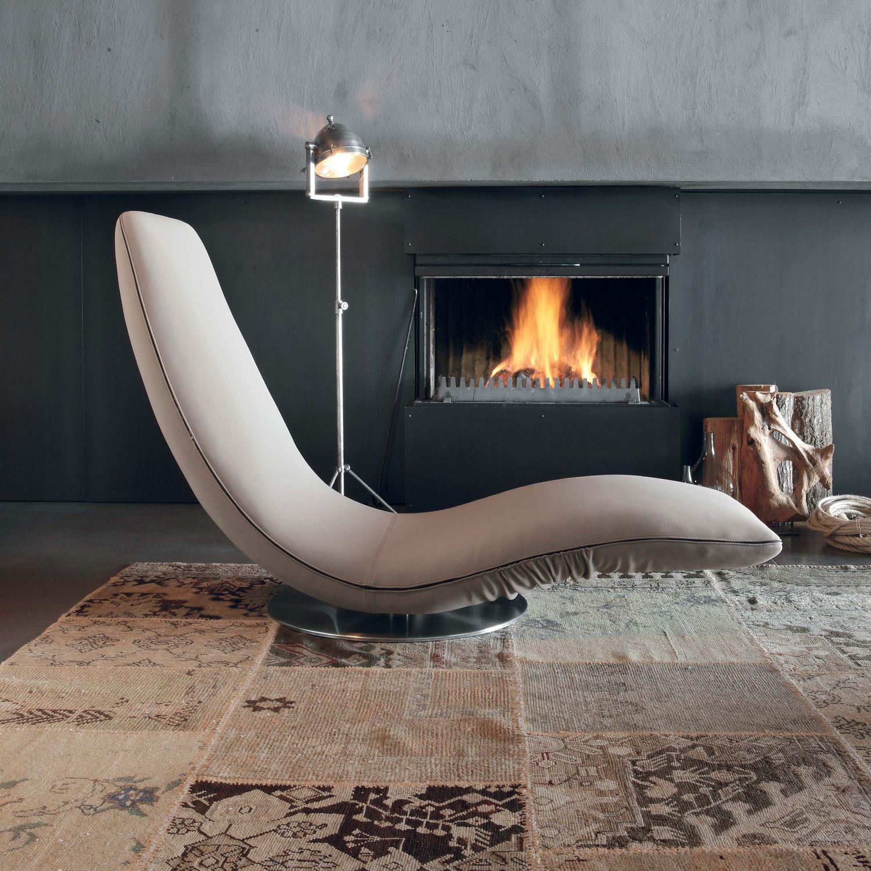 Chaise Longue Design Original / En Tissu / En Cuir / Pliante ...
