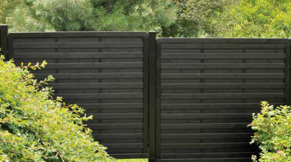 Clôture de jardin / à barreaux / en bois / écolabel FSC - BREHAT ...