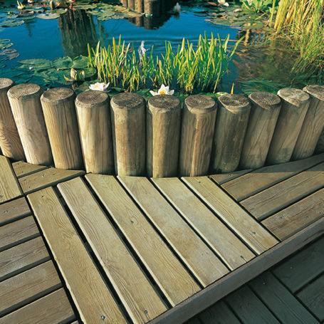 Bordure de jardin / en bois / ronde - Silverwood