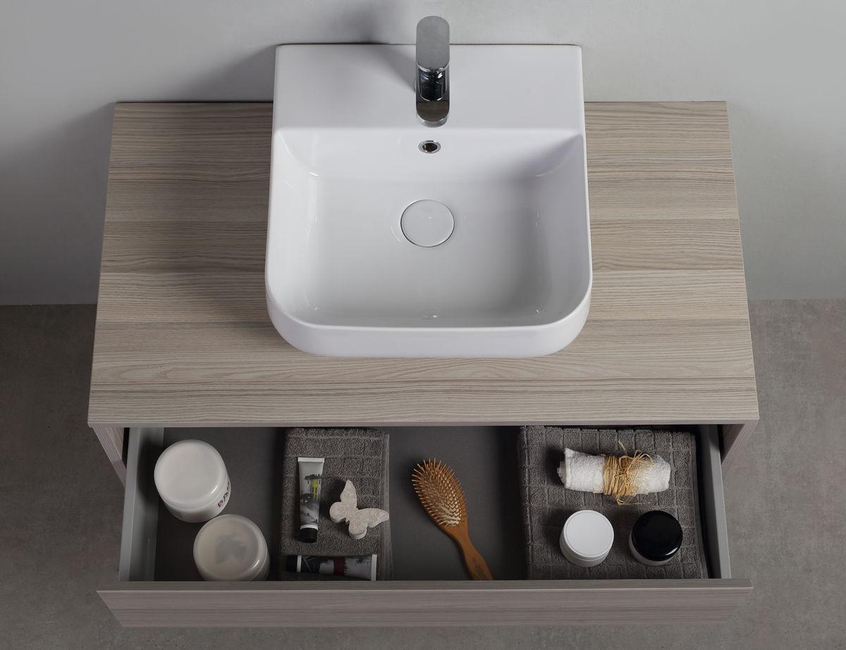 Meuble Vasque Suspendu En Bois Design Original Avec Tiroirs