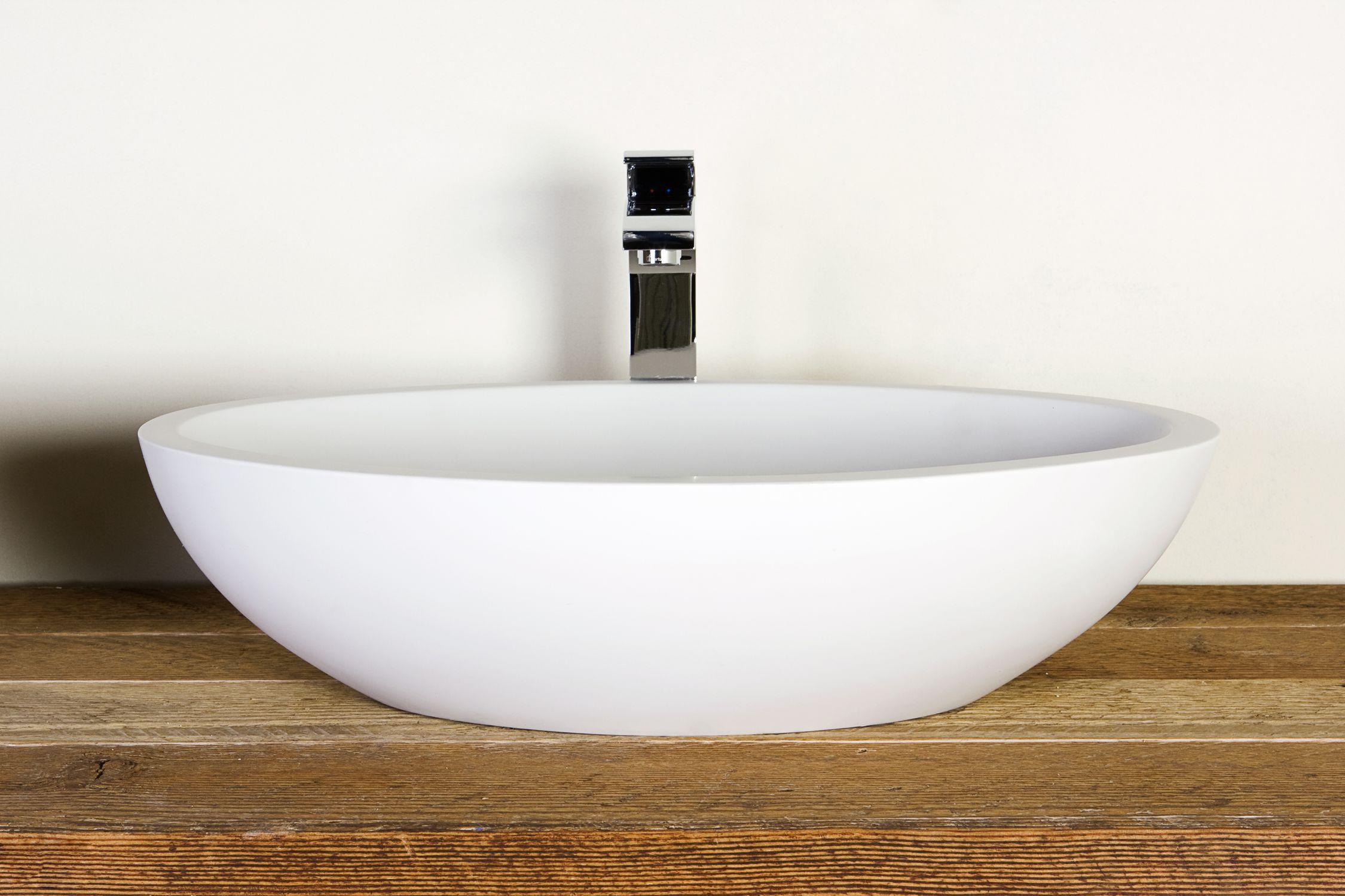 Vasque Ovale A Poser #3: Vasque à Poser / Ovale / En Solid Surface / Contemporaine SATINE Condor  Balneo