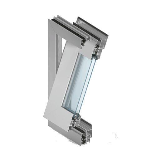 Fenêtre à Pivot En Aluminium à Double Vitrage à Isolation