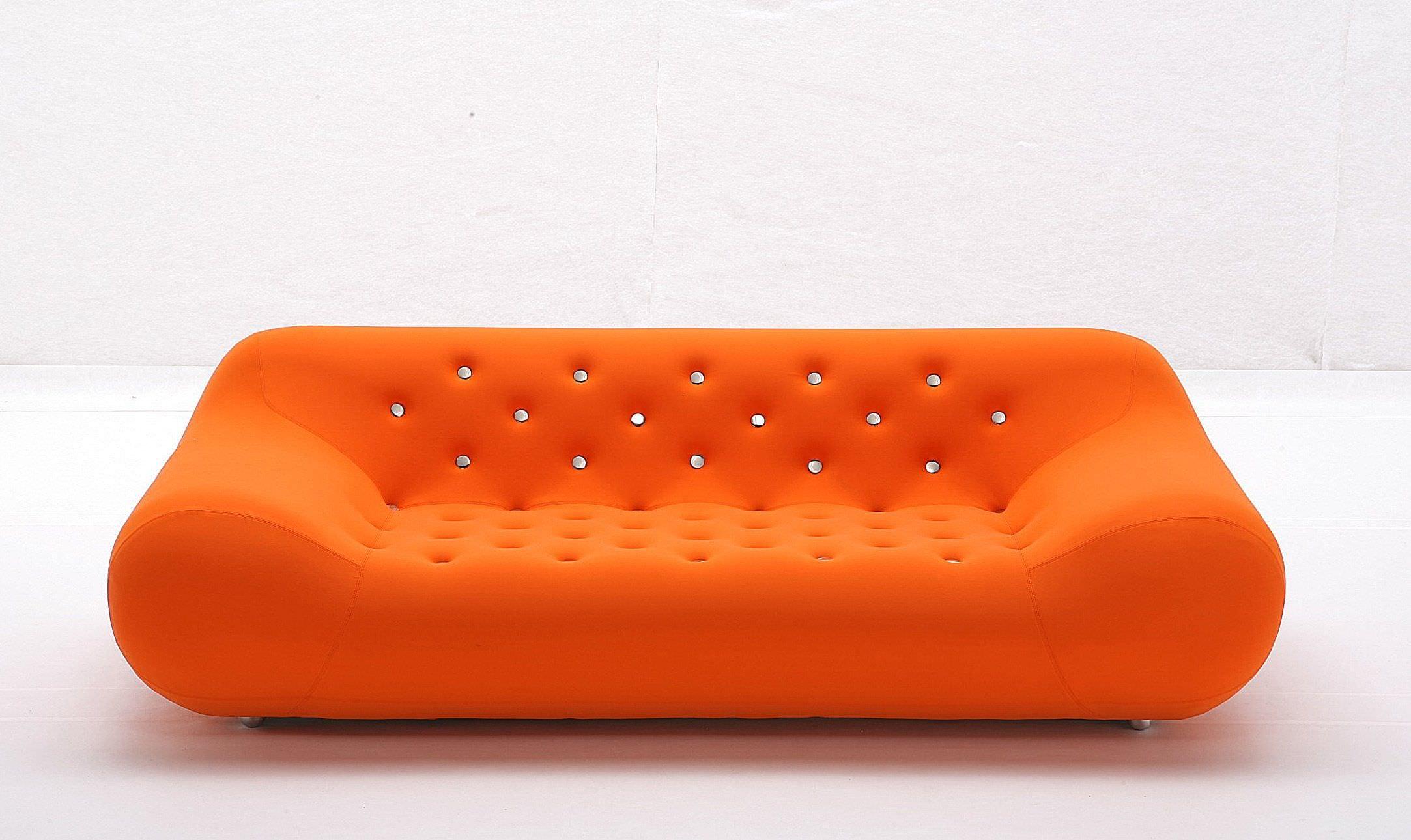 Canapé design original en tissu 3 places orange STAR by