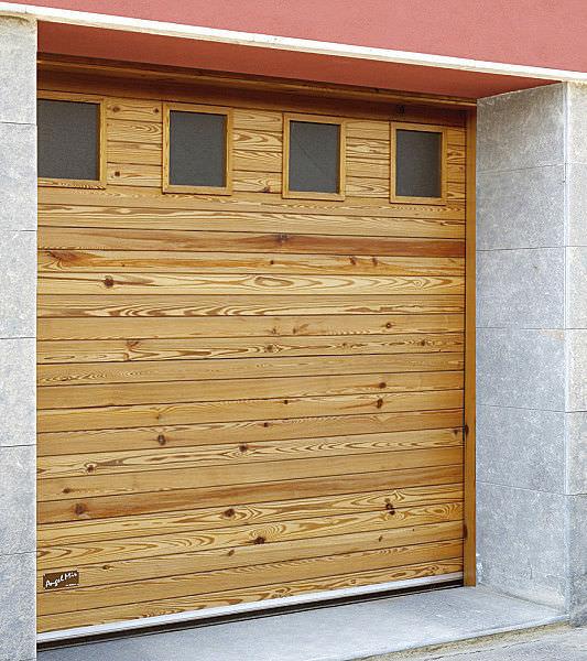 Portes De Garage Sectionnelles En Bois Massif Automatiques - Porte garage bois