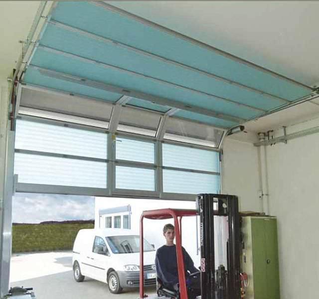 Extrêmement Porte industrielle sectionnelle / en fibre de verre / pour l  FO97