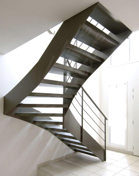 escalier quart tournant metal