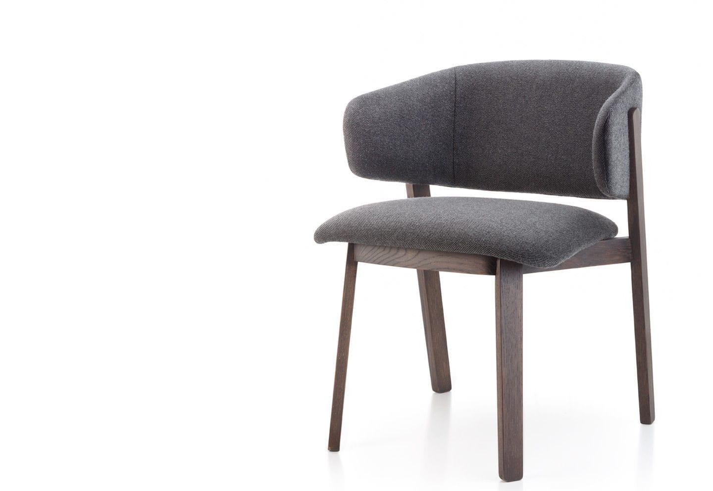 Fauteuil design scandinave en bois en tissu en cuir