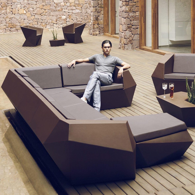 Canapé d\'angle / modulable / design original / de jardin - FAZ by ...