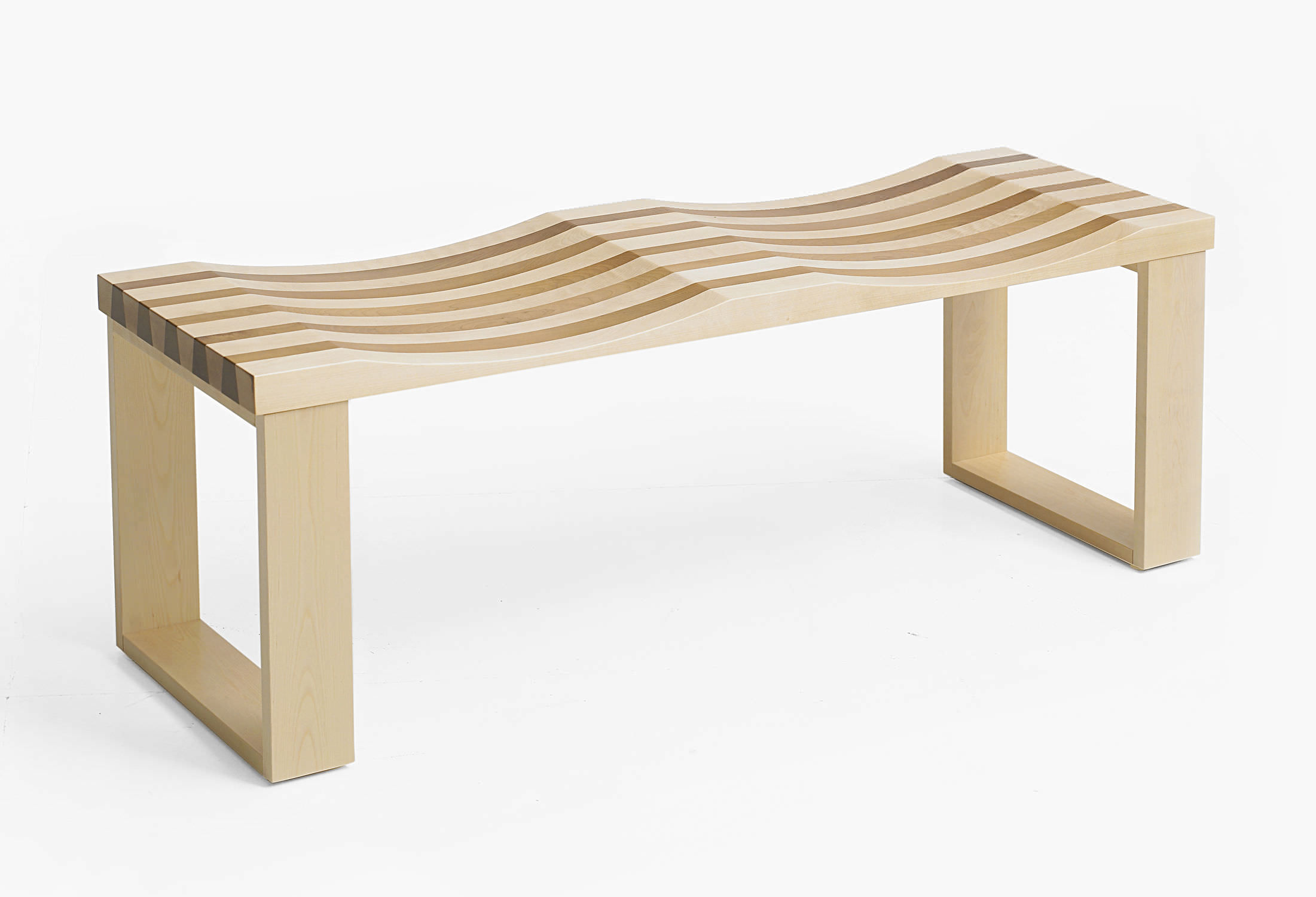 Banc contemporain / en bois / modulaire - SIDEBYSIDE by Filip ...